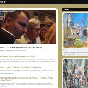 Nuovo sito dell'artista Patrizio Arabito - Critiche