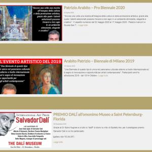Nuovo sito dell'artista Patrizio Arabito - News