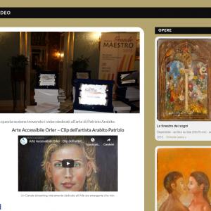 Nuovo sito dell'artista Patrizio Arabito - Video