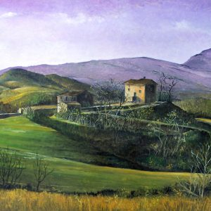 Il sito web dell'artista Paola Marchi - Pianoro di Sant'Anna - Olio su tavola (52×67 cm)