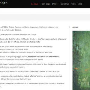 Sito della pittrice Rosalind Keith - Curriculum