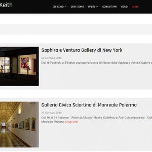 Sito della pittrice Rosalind Keith - News