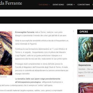 Sito per l'artista Ermenegilda Ferrante - Biografia