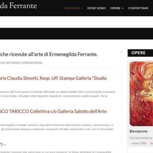 Sito per l'artista Ermenegilda Ferrante - Critiche
