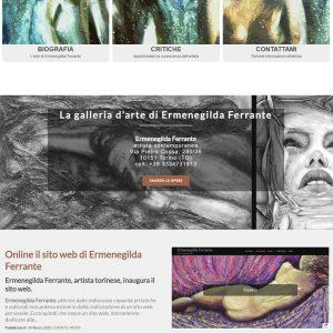 Sito per l'artista Ermenegilda Ferrante - Homepage