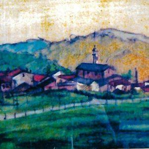 Villaggio di Arosio - Pastello su carta - 40x30cm