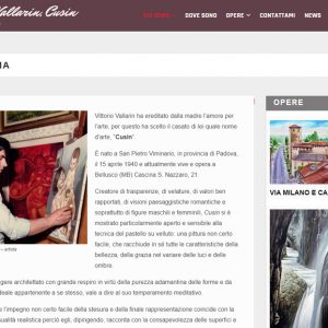 Il sito personale del pittore Vittorio Vallarin, in arte Cusin - Biografia