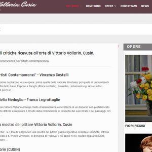 Il sito personale del pittore Vittorio Vallarin, in arte Cusin - Critiche