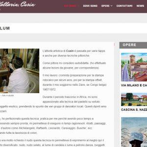 Il sito personale del pittore Vittorio Vallarin, in arte Cusin - Curriculum