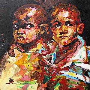 Il Coefficiente del pittore Jacopo Camera - Africa - Acrilico - 140x90cm