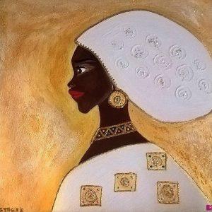 Afrika Magic Gold 2 - Materico su tela cotone - 50x50m