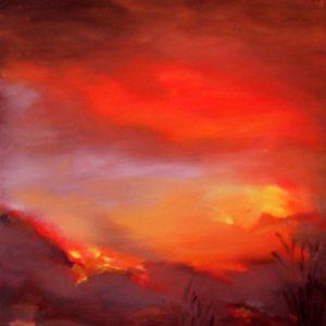 Alba di fuoco - Olio su tela - 30x40cm