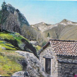 Alle porte della Val Grande - Toward the Val Grande National Park - Olio su tela - 40x40cm