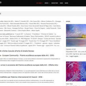 Il sito personale dell'artista Amelia Romeo - Critiche