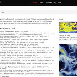 Il sito personale dell'artista Amelia Romeo - Curriculum
