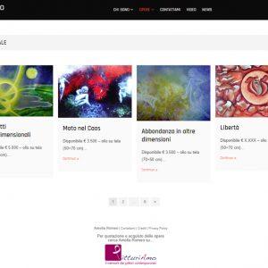 Il sito personale dell'artista Amelia Romeo - Opere