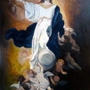 Assunzione della Madonna - Olio su tela - 65x90cm