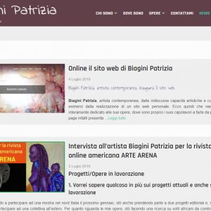 Patrizia Biagini - Il sito della pittrice è online - News