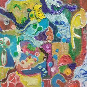 Il Coefficiente artistico di Loretta Agostini, in arte Lore - Big bang con testimoni - Tecnica mista - 50x60cm