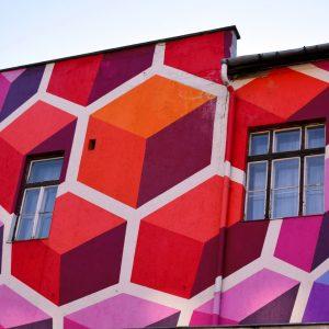 Budapest: il centro artistico dell'Europa dell'Est - Street-Art su un palazzo