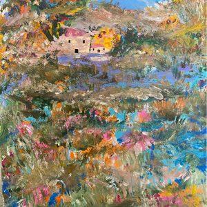 Schizzi di campagna colorata - Acrilico - 25x30cm