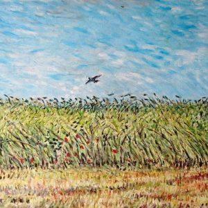 Campo di grano con allodola (copia Vincent Van Gogh) - Olio su tela - 50x40cm
