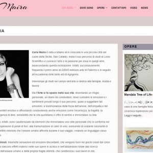 Il sito d'arte di Carla Maira - Biografia