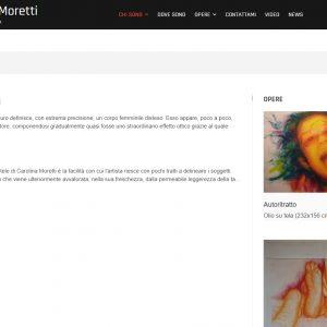 Sito d'arte di Carolina Moretti - Critiche
