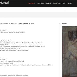 Sito d'arte di Carolina Moretti - Curriculum