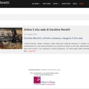 Sito d'arte di Carolina Moretti - News