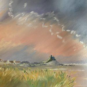 Promozione dell'artista online - Cielo rosa - Olio su tela - 20x30cm di Serenella Bompan
