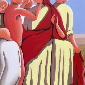 Con dignità - Acrilico su tela - 50x70cm