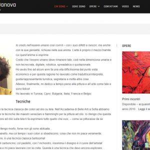 Sito dell'artista Daniela Danova - Biografia