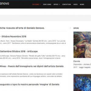Sito dell'artista Daniela Danova - Critiche