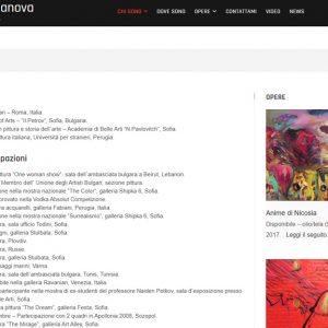 Sito dell'artista Daniela Danova - Curriculum