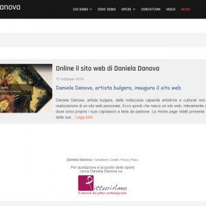 Sito dell'artista Daniela Danova - News