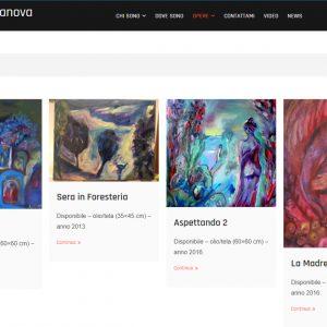 Sito dell'artista Daniela Danova - Opere