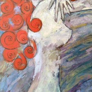 Donna - Spatola su tela - 60x100cm