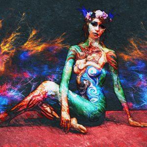 "Intervista all'artista ""Elisabeth_"" di Alys Melcon - Arte digitale - 70x50cm"
