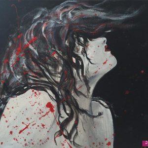 Il coefficiente della pittrice Valentina Vendrame, in arte Vale - Estasi Violenta - Acrilico e smalto su tela - 30x30cm