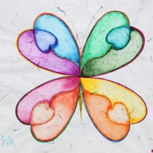 Farfalla aura soma, 40x40cm, acquarello