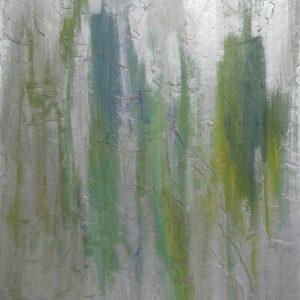 Figure - Acrilico e smalti su tavola - 68x90cm