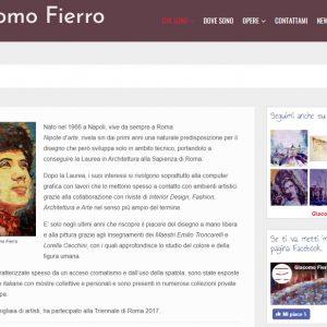 Sito del pittore Giacomo Fierro - Biografia