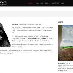 Nuovo sito dell'artista Giuseppe Vietti - Biografia
