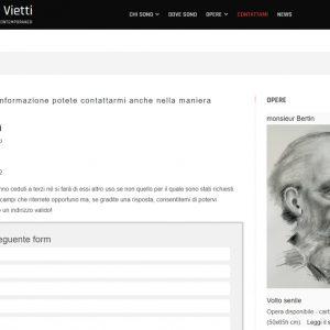 Nuovo sito dell'artista Giuseppe Vietti - Contattami