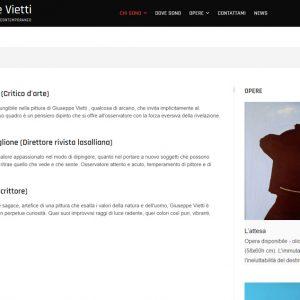 Nuovo sito dell'artista Giuseppe Vietti - Critiche