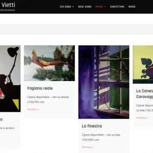 Nuovo sito dell'artista Giuseppe Vietti - Galleria