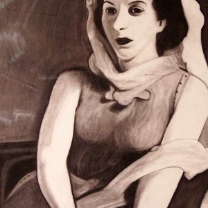 Graziana (copia Eugene Edward Speicher) - Carboncino su carta - 48x66cm