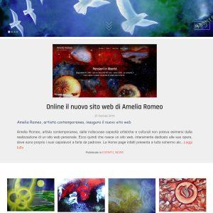 Il sito personale dell'artista Amelia Romeo - Pagina principale
