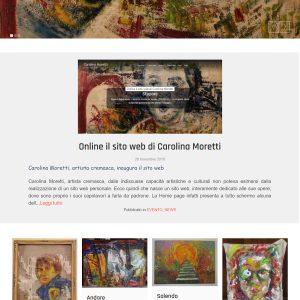 Sito d'arte di Carolina Moretti - Homepage